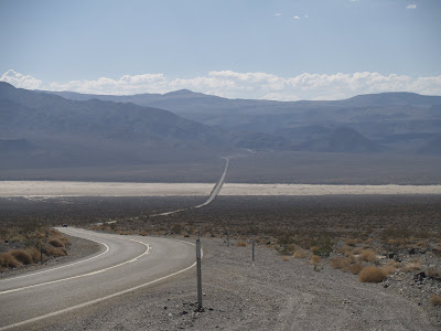 Carretera norte sur en Death Valley