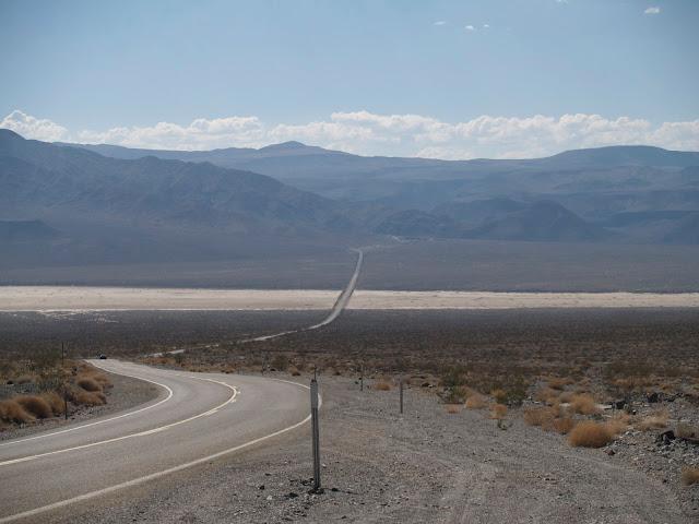 Carretera norte sur en Death Valley