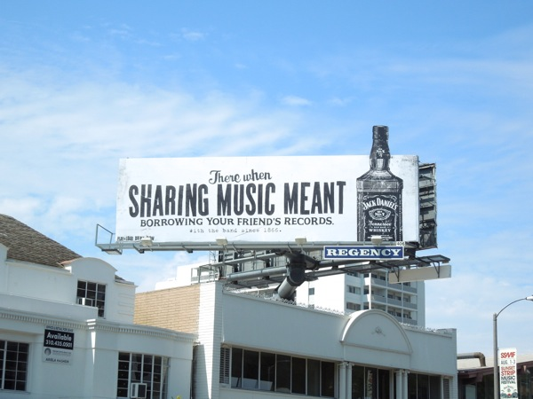 Jack Daniels sharing music billboard