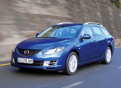 blue cars - mazda 6 sport cars
