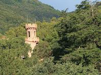 Detall de la torrella del Castell de Fluvià