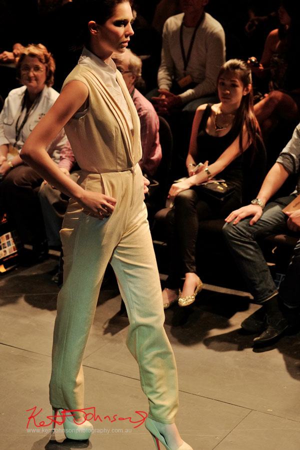 Rhaya Ratavosi - blouse and pants, Raffles College 2012 Graduate Fashion Show Carriageworks, Everleigh Sydney