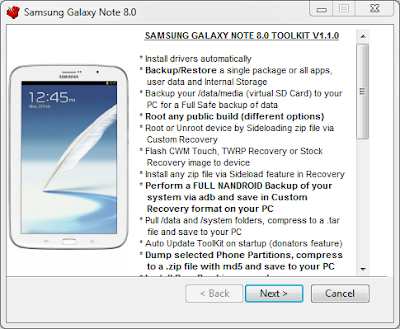 Samsung Galaxy Note 8.0 ToolKit နဲ႔ Samsung Galaxy Note 8.0 GT-N5100, GT-N5110 Root နည္း