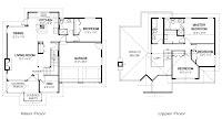 Foto de planos de casa dos plantas cuatro dormitorios tres baños