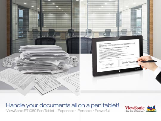 ViewSonic 10-inch PT1080 Pen Table