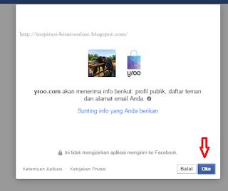 Masuk dengan akun facebook anda