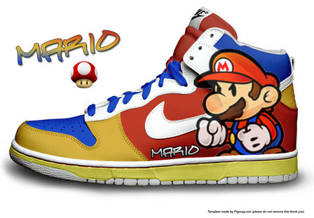 reputable site 31c56 4f7df Nike SB Dunk Super Mario Sneakers Colorful Video Game Hi