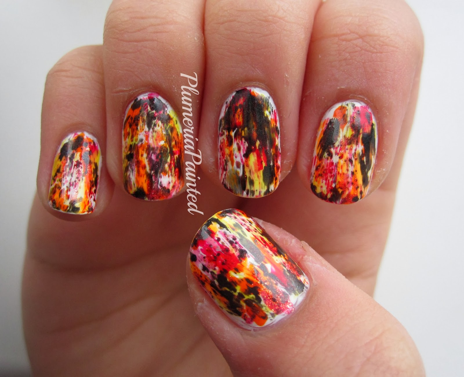 Plumeriapainted Distressed Catching Fire Nails