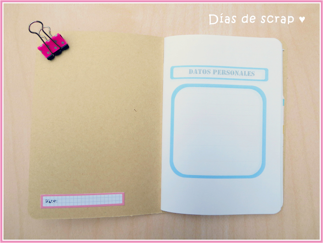 scrap cuaderno de viaje tutorial para Blogging freebies