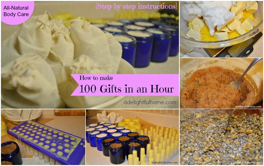 How to Make 100 Natural Body Care Gifts in an Hour