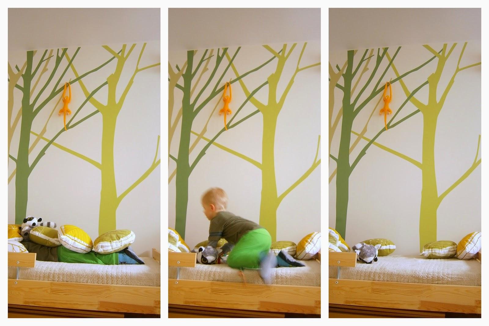ściana malowane drzewo