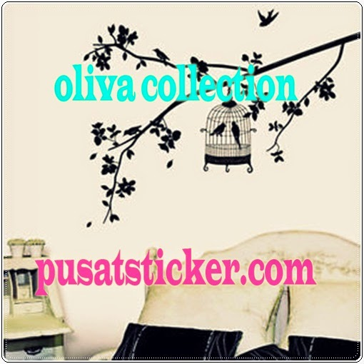jual wall sticker tree and bird - olivacollection