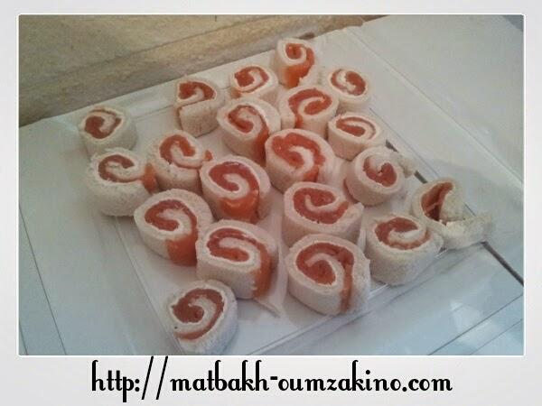 roulé saumon boursin matbakh-oumzakino