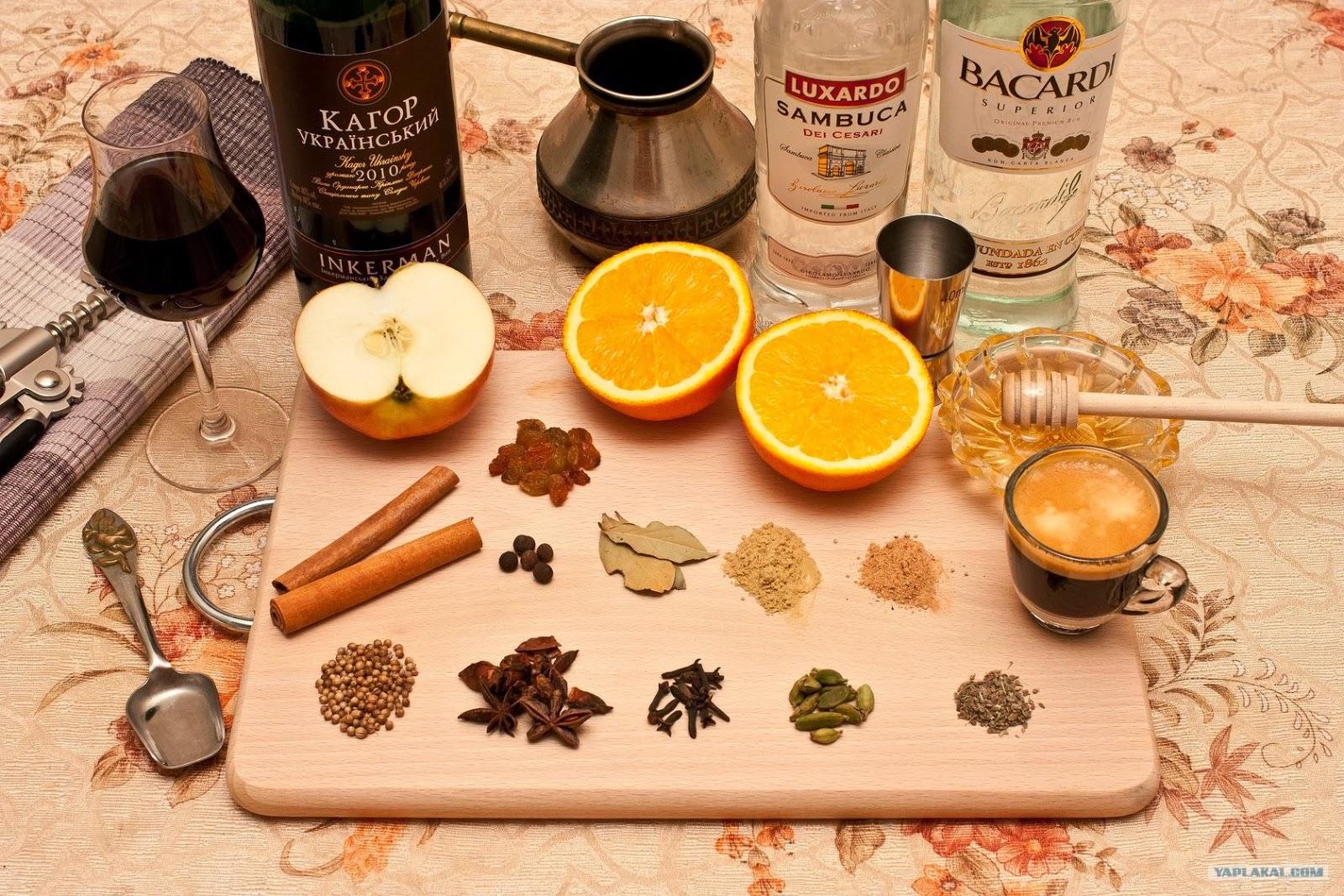 Рецепт глинтвейн в домашних условиях рецепт с