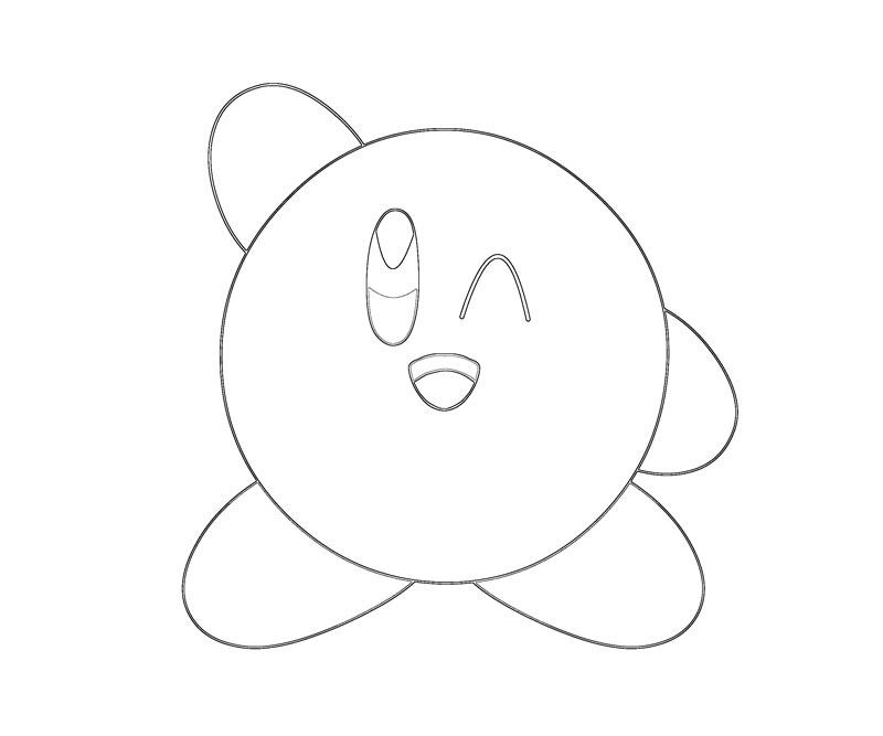 How to draw n kirby for Cute kirby coloring pages