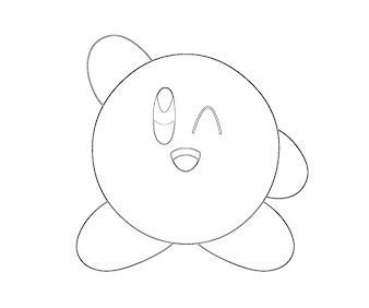 #13 Kirby Coloring Page