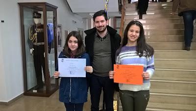 Διάκριση στον Πανελλήνιο Μαθητικό Διαγωνισμό Φυσικής 2015