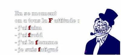 statut facebook d'attitude