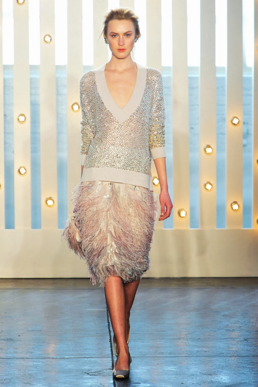 New York Fashion Week, NYFW, Jenny Packham, Feathers