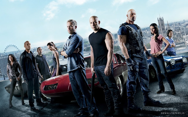 A rather nice shot of the gang in Fast and Furious 6
