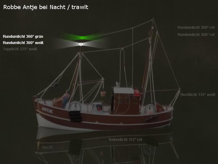 Antje von Robbe - Position der möglichen neuen Beleuchtung - Topplicht und Rundumlichter - trawlt