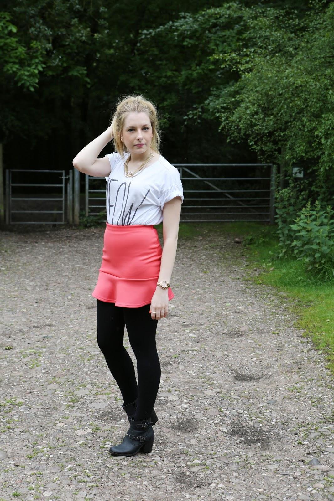 Pink Primark Ruffle Skirt