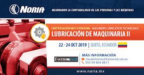Curso Abierto para certificación: Técnico en lubricación de maquinaria nivel II (MLT-II) 2019