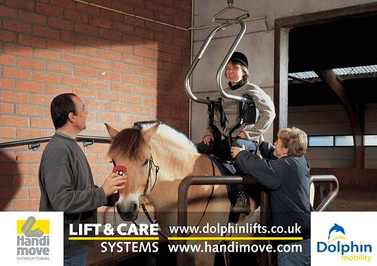 Handi-Move Riding Hoist supplied in the UK by Dolphin Lifts