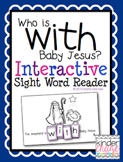 "FREE ""Who is with Baby Jesus"" Interactive Sight Word Reader"