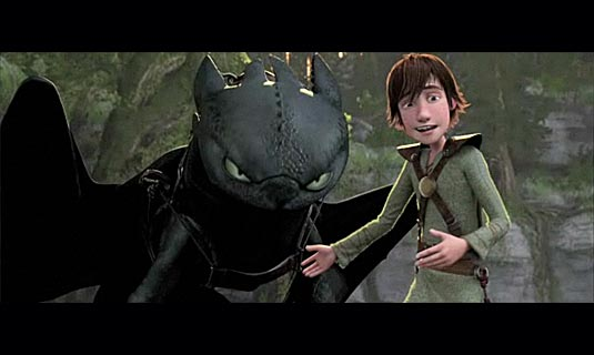 How to Train Your Dragon Hiccup and a dragon animatedfilmreviews.blogspot.com