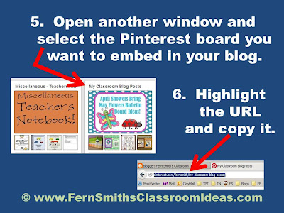 Fern Smith's Thursday's Tech Tips for Teachers Embedding a Pinterest Board Anywhere!