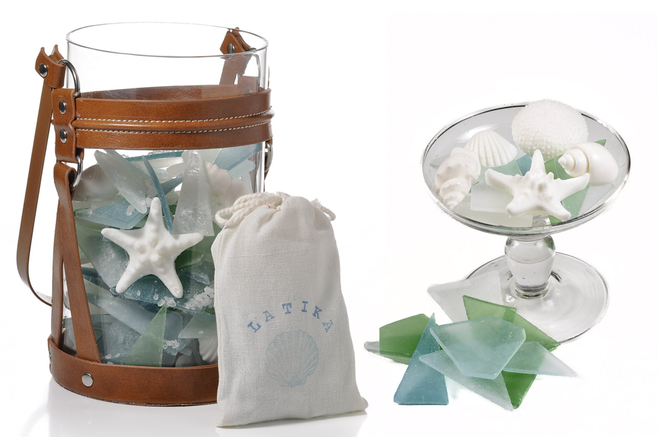 New package for our sea glass soap | Latika Body Essentials
