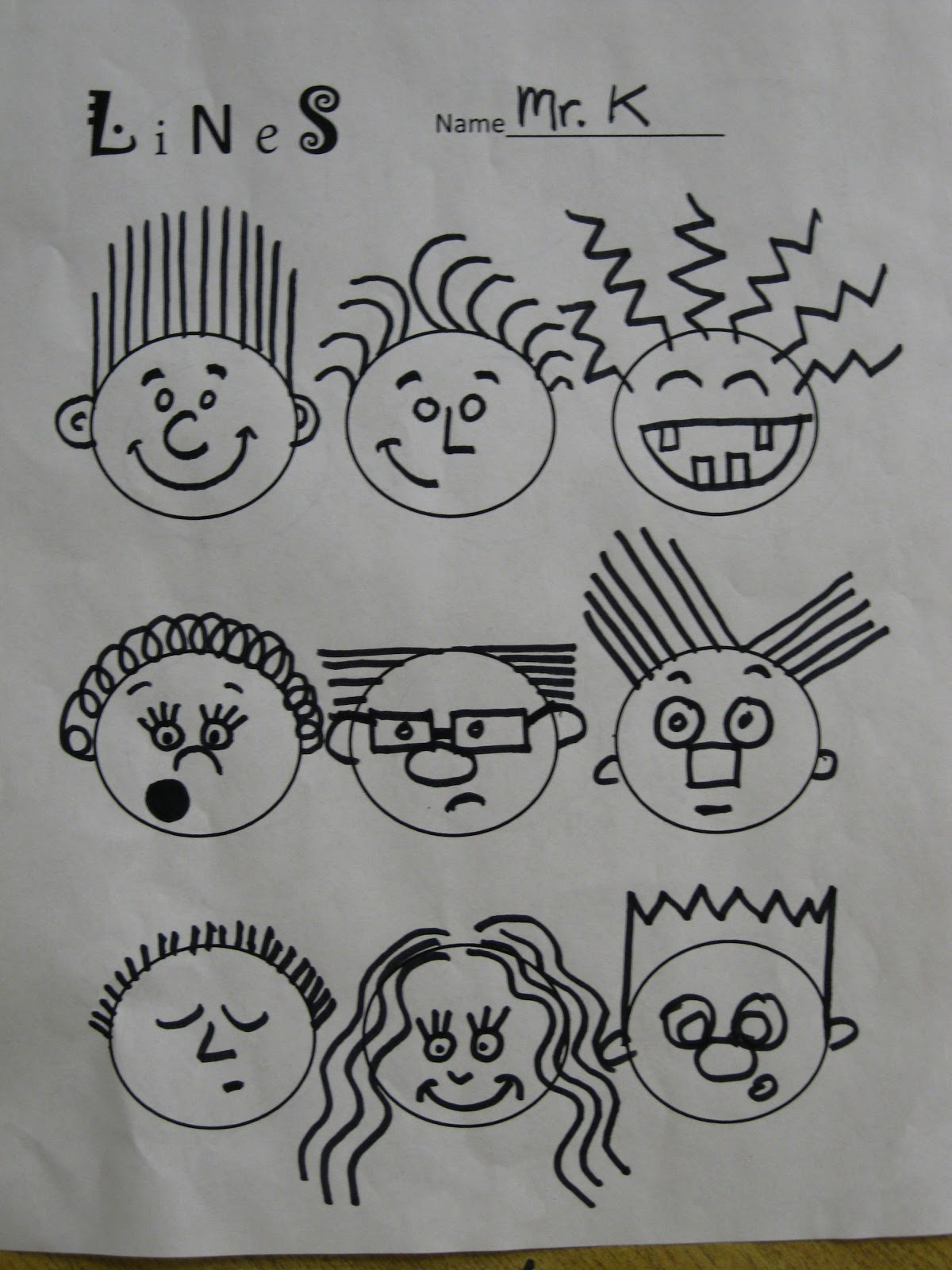 Line Art For Kindergarten : The art room first grade artists