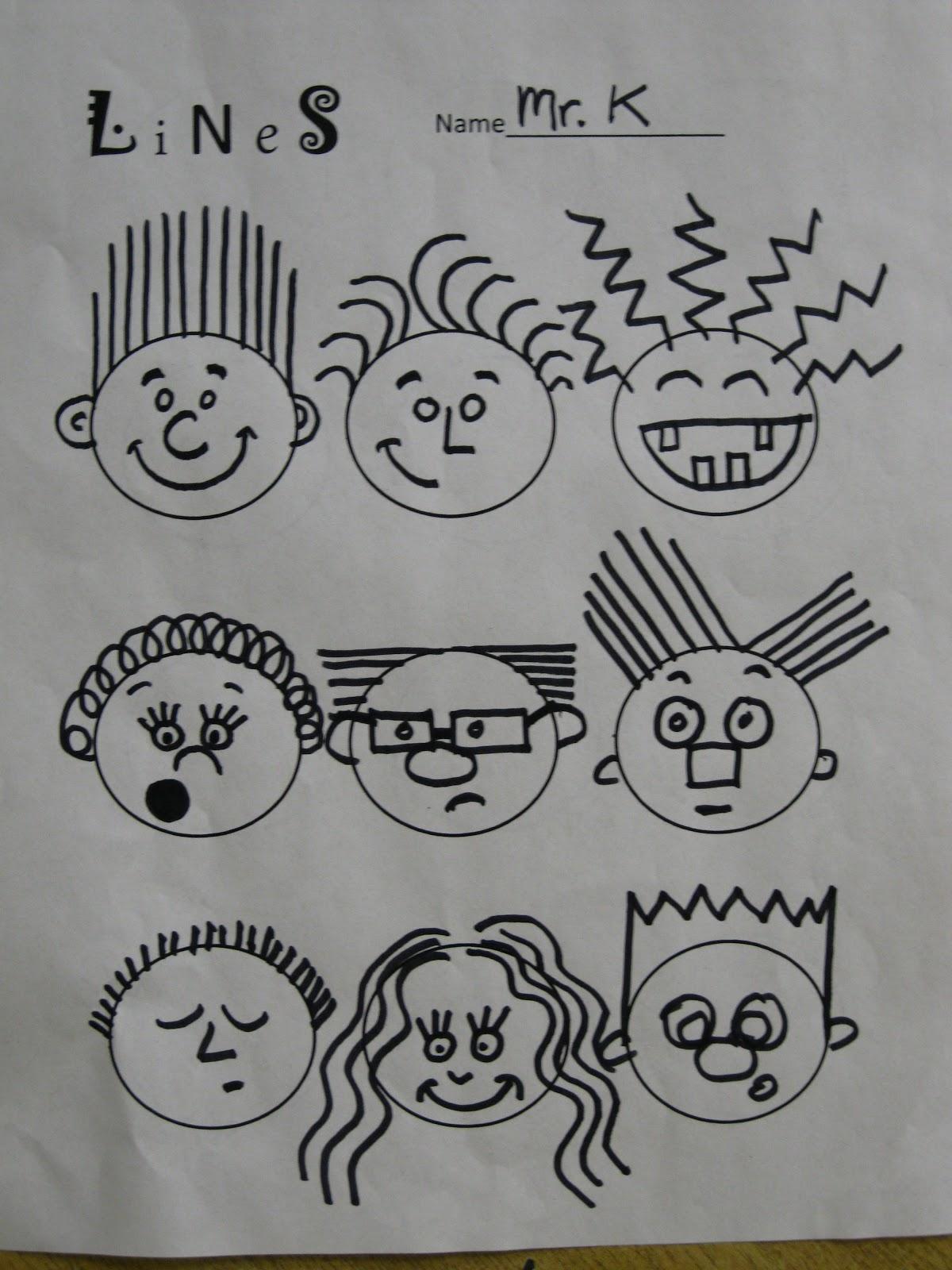 рисунок с разными линиями
