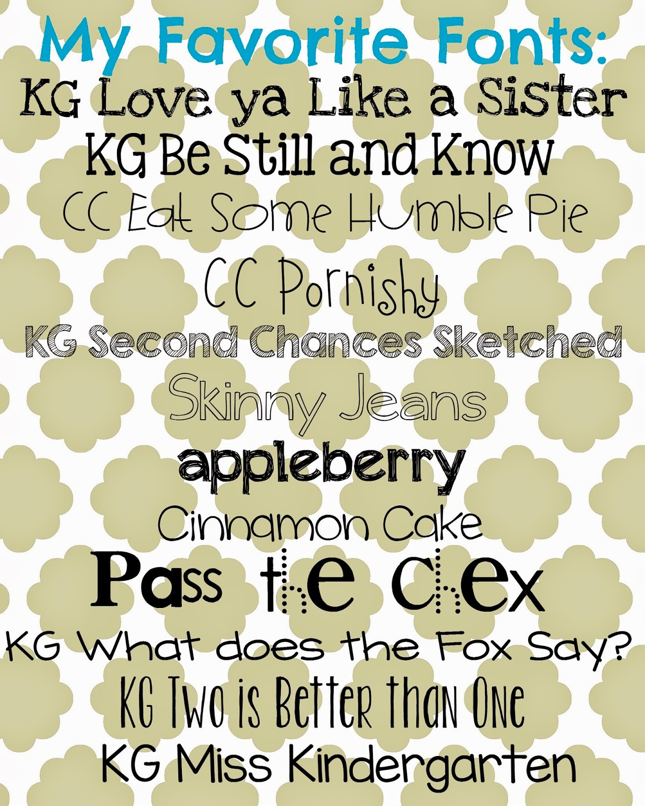 Can you tell that i m slightly obsessed with kimberly geswein fonts