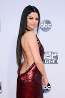 Selena Gomez sexy backless dress at American Music Awards 2015 Red Carpet Dresses Photos