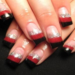 Нарощенные ногти с британским флагом фото.