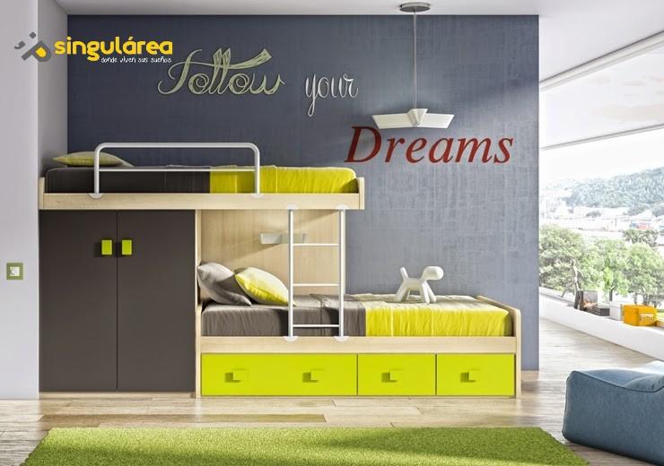 Habitaci n litera tren juvenil 1018 - Habitaciones juveniles en valencia ...