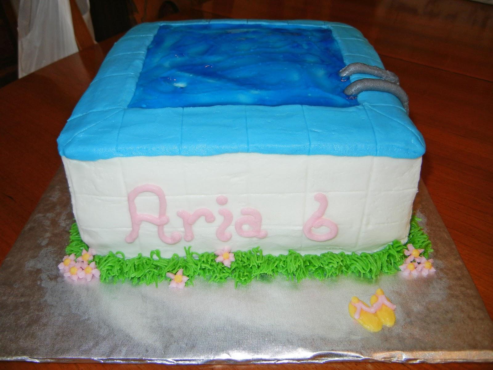 Cash 39 S Cakes Barbie Swimming Pool Cake