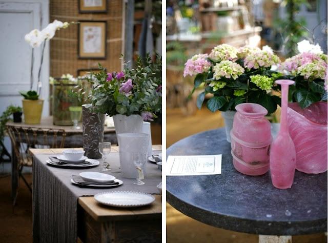 deco mesas flores vintage