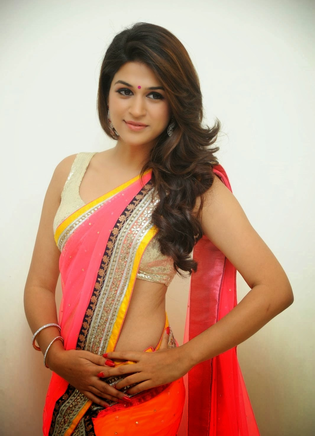Shraddha Das Hot Navel pics in Saree