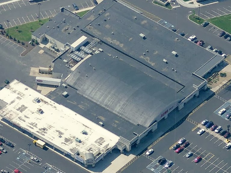 walmart it wasnt yet opened when this satellite image was taken so it may have been here for less than ten years no