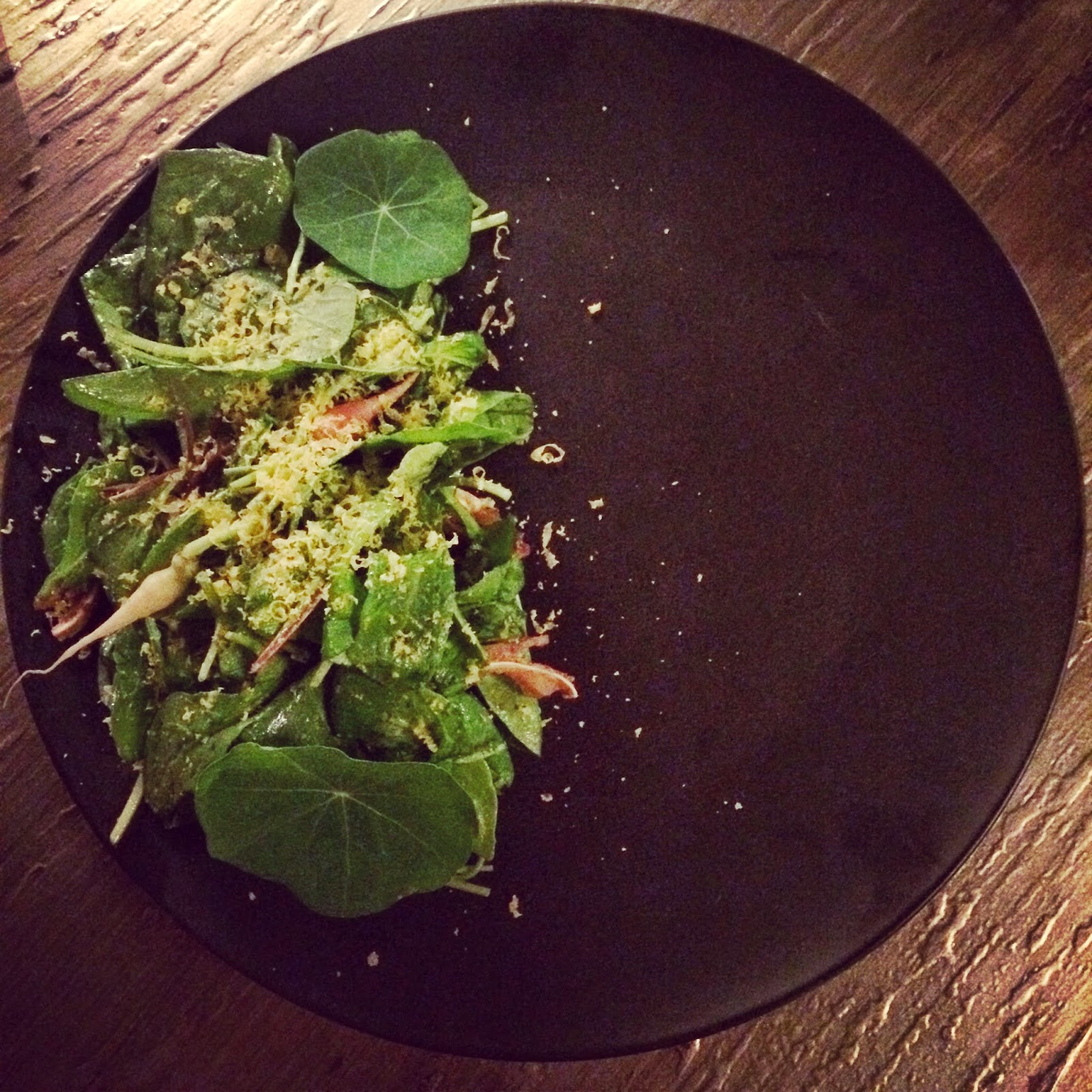 Sojourn's Crispy Pig Ear Salad in New Orleans