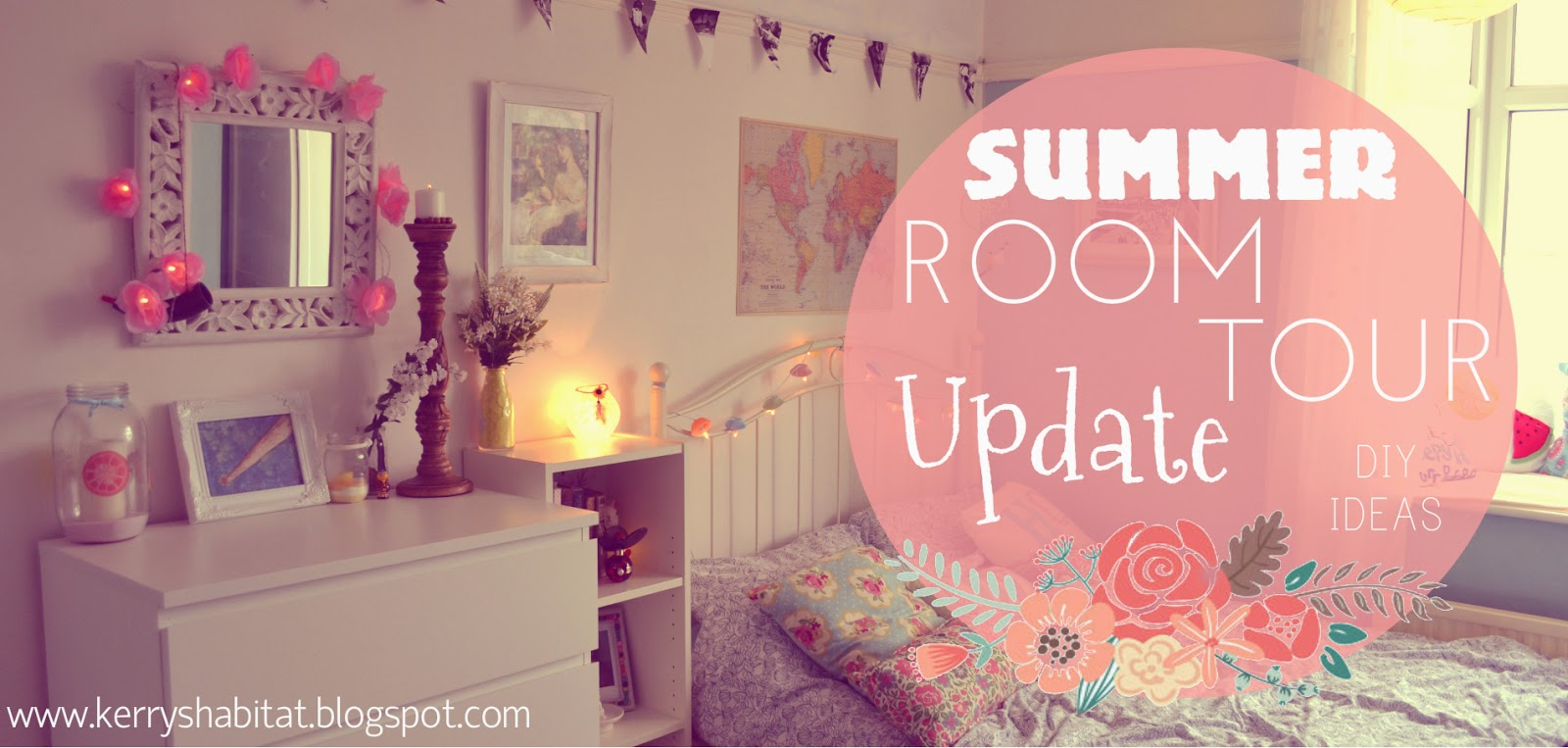 Kerry 39 s habitat summer room tour update geeky girly for Girly room decoration