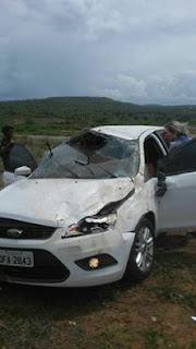 Depois de passar festejos do Padroeiro em Picuí, família sofre acidente na BR-104