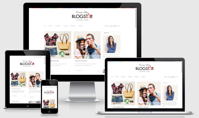 Blogstar Blogger Template by ThemeXpose