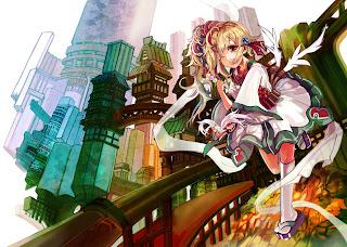 Cute Blonde Hair Wink Girl Anime HD Wallpaper Desktop PC Background 1843