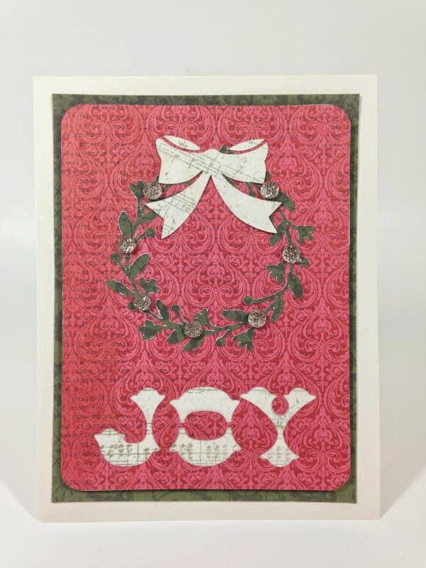 Close To My Heart Artfully Sent Cricut cartridge Joy card