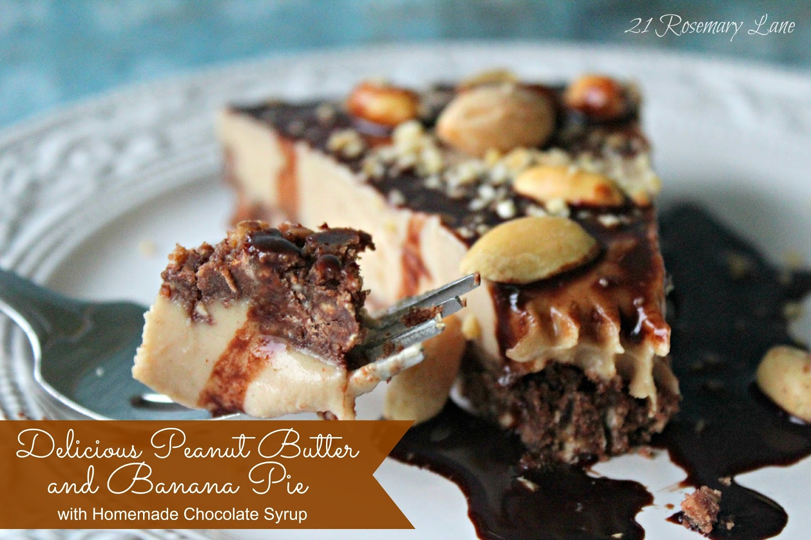 21 Rosemary Lane: Delicious Peanut Butter and Banana Pie with Homemade ...