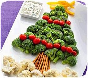 Decoração saladas ceia de natal simples